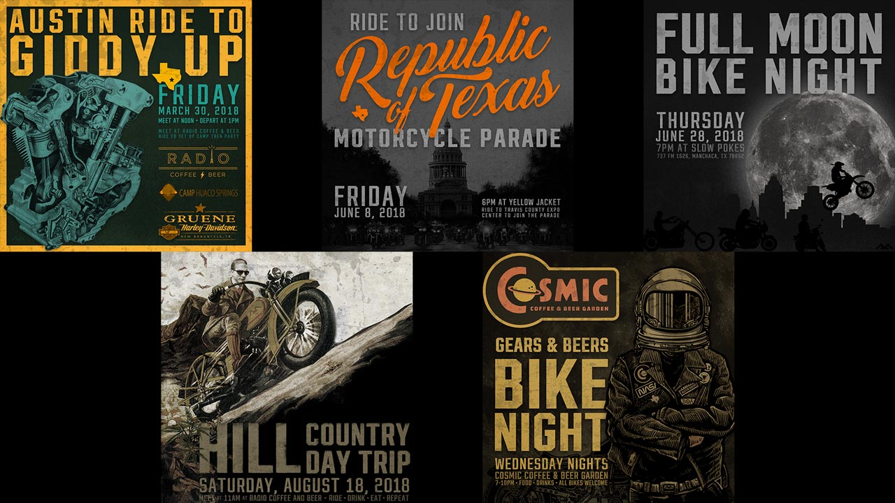 Motorcycle Event Posters